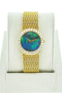Piaget Vintage Ladies Watch with Diamond Bezel and Opal Dial