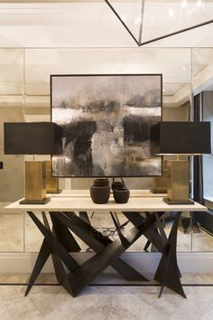Covent Garden // Penthouse // Entrance Hall // Louisa Penn Interiors (www.louisapenninteriors.com) with photography by Phil Durrant