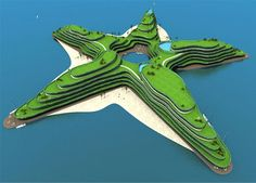 Koen Olthuis Maldives Island - http://inhabitat.com/maldives-to-fight-rising-sea-levels-with-floating-islands/#