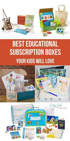 Best Educational Subscription Boxes Your Kids Will Love Want a fun project with no mess and no prep time? Want a gift that will be fun and educational? These Best Educational Subscription Boxes Your Kids Will Love will be a huge hit for your family. Subscriptions For Kids, Subscription Boxes For Kids, Book Subscription, Educational Activities For Kids, Learning Activities, Kids Learning, Science Gifts For Kids, Teaching Kids, Christian Kids