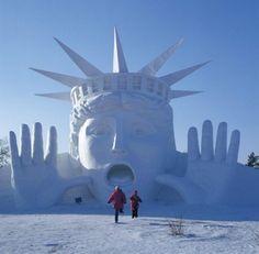 le concours international de sculptures sur glace et sur neige - Valloire