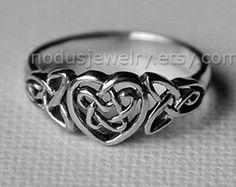 Keltische Knoten Infinity Knot Liebe Knoten Ring von Katstudio