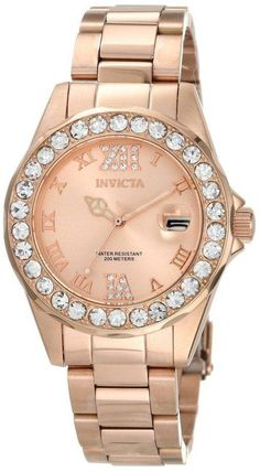online shopping for Invicta Women's 15253 Pro Diver Rose Gold Ion-Plated Stainless Steel Watch from top store. See new offer for Invicta Women's 15253 Pro Diver Rose Gold Ion-Plated Stainless Steel Watch Stainless Steel Watch, Stainless Steel Bracelet, Rose Gold Watches, Watches For Men, Wrist Watches, Women's Watches, Female Watches, Luxury Watches, Jewelry Watches