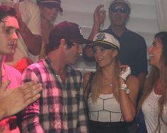 Paris Hilton and her bad boy bestie Brandon Davis spotted at yacht party