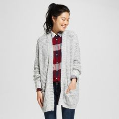 $29.99  30% off sweaters with code SWEATERS30 XL Marbled Gray Women's Oversized Cardigan - Mossimo Supply Co.™ (Juniors') : Target