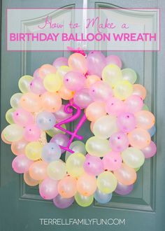 It wouldn't be a birthday without some balloons, right? Gain some extra pizzazz by grouping a bounty of pastel hues together. Get the tutorial at Terrell Family Fun »  - GoodHousekeeping.com