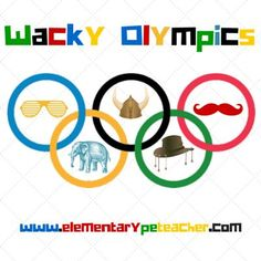 "Wacky Olympics are individualized competitions that are meant to be fun and exciting!  If a student wins a competition, they are awarded a ""wacky"" trophy!  A great end of school year activity!  Check out my blog post for more details."
