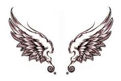If I ever got a tattoo...it would be some angel wings on my back.