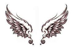 angel wings on my back.