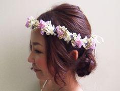 「気になる!花冠とヘアスタイルの相性✩」の画像 大人可愛いブライダルヘッドドレス&花冠…  Ameba (アメーバ)