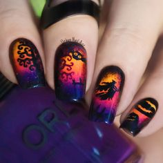 Cool Halloween Nail Art Ideas for You to be Delighted ★ See more: https://naildesignsjournal.com/halloween-nail-art-delighted-ideas/ #nails