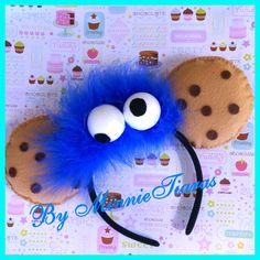 BRAND NEW ITEM Cookie Monster Mickey Mouse ears Hedband Minnie Mouse ears Headband by MinnieTiaras on Etsy