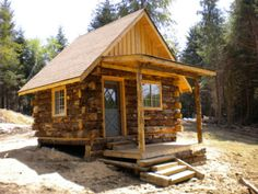 Using Hemlock and Cedar logs cut and found at the site, crews have built a number of rustic cabins. As much as possible only materials from the site have been used during..