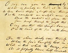 Star Spangled Banner lyrics by Francis Scott Key