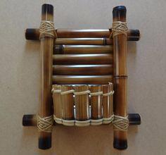 Mini floreira de bambu