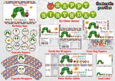 Very Hungry Caterpillar Birthday Party Printables