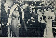 Still from the 1911 silent film Bertie's Brainstorm. The film is lost.
