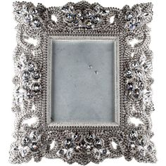 Pre-owned Decor B.B. Simon Swarovski Crystal Picture Frame ($975) ❤ liked on Polyvore featuring home, home decor, frames and silver