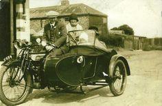 1920's Motorbike/ Sidecar Combo. Always wanted one. A bit of past life nostalgia I think.