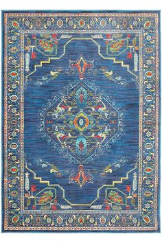 Colorful and stylish, our Bia Area Rug is a must-have for the home. Spruce up a neutral room with this rug. It has a traditional motif with modern colors for an updated look. Machine-woven of durable synthetic fibers for long-lasting wear.  #12DaysofDeals2016