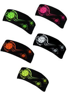 Neon Tribal Volleyball headbands!