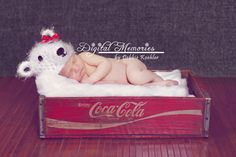 POLAR BEAR HAT - This little Polar Bear is super duper soft and cuddly. It would be a perfect addition to your prop collection for those newborn photo shoots!Please check out our other items at: www.lovebycc.com