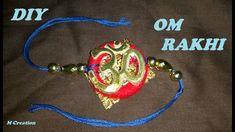 how to make OM RAKHI for RAKSHA BANDHAN Rakhi Making, Raksha Bandhan, Om, Personalized Items, How To Make, Gifts, Jewelry, Presents, Jewlery