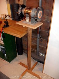 Made This Bench Grinder Stand From Scrap Lumber I Put A