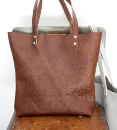Bison Leather Tote