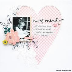 Scrapbook Layout - Crate Paper - Willow Lane Collection