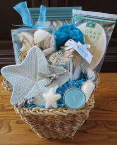 Relaxing Sea Themed Spa Gift Basket!