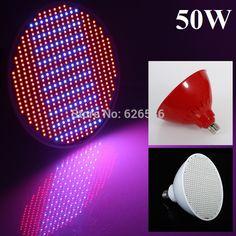 New Hydroponics Lighting 50W E27 AC85-265V 400RED/100BLUE SMD 500 LEDS Led Plant Grow Light Led Bulb Grow Lamp