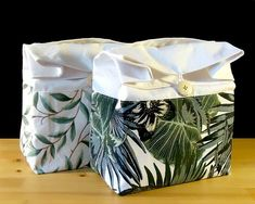 Palm print lunch bag for women Zero waste green lunch bag | Etsy