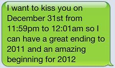 you would kiss for a whole year whoa!