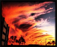 New Orleans Fire Sky