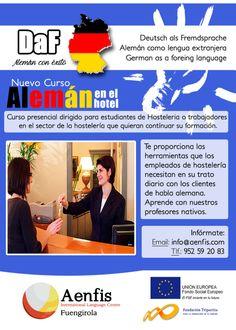 ¡Nuevo curso Alemán en el Hotel!  Aprende lo necesario para desarrollar una actividad hostelera con tus clientes alemanes.