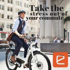 Take the stress out of your commute. #eBike #BikeCommute #Bikes