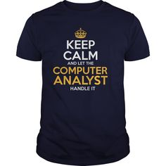Awesome Tee For Computer Analyst T-Shirts, Hoodies. SHOPPING NOW ==► https://www.sunfrog.com/LifeStyle/Awesome-Tee-For-Computer-Analyst-126297620-Navy-Blue-Guys.html?id=41382