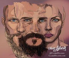 Vikings fan art by Claire Hylands. - Ludwiggers