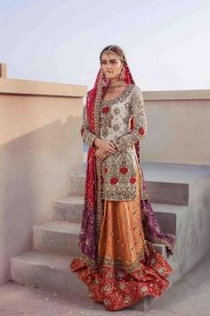 """Annus Abrar Bridal Wear Collection 2017 More: """"Papillon"""" Luxury Pret Wear Collection By Rungrez Bridal Dresses 2018, Pakistani Bridal Dresses, Pakistani Outfits, Indian Outfits, Bridal Gowns, Indian Clothes, Wedding Dresses, Beautiful Bridal Dresses, Iconic Dresses"""