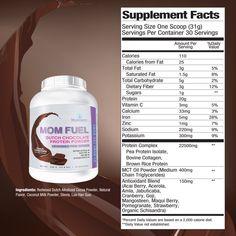Mom Fuel Protein Powder DUTCH CHOCOLATE