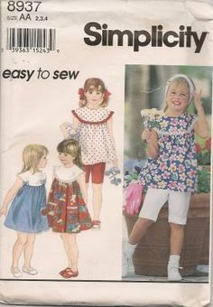SIMPLICITY EASY TO SEW GIRLS' PATTERN