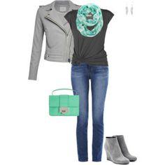 Gray & green
