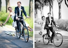 not a wedding car, but a wedding bycicle :)