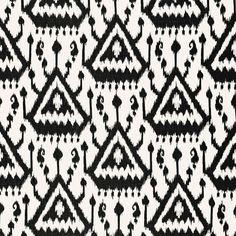 Vientiane Ikat | 175021 in Ebony | Schumacher Fabric