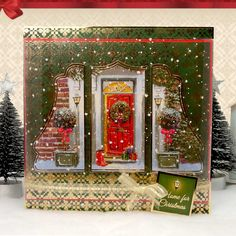 Traditional Christmas by Hunkydory Crafts. Card made using 'Step into Christmas' topper set. Part of the 2014 Christmas Craftinator Collection