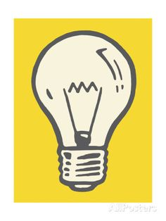 Light Bulb Prints by Pop Ink - CSA Images - AllPosters.co.uk