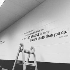 A little motivation for the weekend! We felt inspired while installing these vinyl letter quotes to the newly renovated Trotwood Madison HS weight room! #workhard #wallgraphics #inspiration #tgifriday