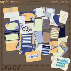 This fun and colorful digital scrapbooking collection is perfect for all your Love inspired layouts.   This journaling cards pack includes 24 pocket cards: twelve 3x4 and twelve 4x6. These cards are perfect to document your everyday life moments in your pocket page layouts.