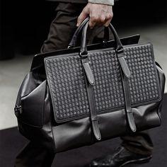 New design for Men: The Monaco bag #BottegaVeneta Men's Fall-Winter 2015/2016 #mfw